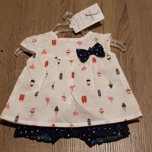 $4 with bundle! Infant Blouse and Short Set